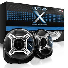 Made specifically for 2015, 2016 and 2017 Jeep Renegades. The Outlaw X are custom-made projector LED headlight replacement housings. DOT Approved.