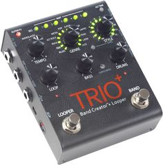 You might still want a dedicated looper pedal and/or a smart(er) drum pedal - and possibly 2-3 effects that you really love to use - but if your goal is to simply create music here and now with minimal equipment, fuss and dollar burn, you owe it to yourself to check out Digitech's Trio Band Creator. Guitar practicing has never been this easy - or inspiring! Don't forget a footswitch (e.g. Digitech FS 3X) if you want to unleash its full potential.