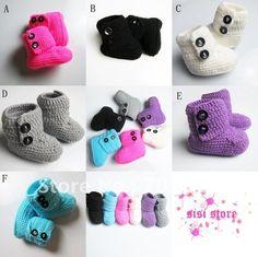 8baed8535a766 Bebé ganchillo las botas de nieve de algodón para bebés   niños lindos  hechos a mano