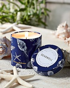 Tommy Bahama - Shell Printed Candle Tin
