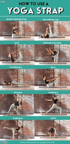 A yoga strap can be a very handy tool for advancing your yoga practice as a beginner. Here are 18 yoga stretches to use with a yoga strap! I Love Yoga Yoga Meditation, Yoga Régénérateur, Diy Yoga Mat, Yoga Moves, Yin Yoga, Yoga Flow, Yoga Exercises, Vinyasa Yoga, Yoga Workouts
