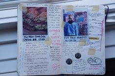 The Journal Club / art journals / tumblr / art / journal / writing / drawing / paint / color / write / express yourself / do art / create / be creative / washi tape / illustration / aesthetic / words / sketchbook / art life / watercolor / pen / ink / painting / paper / pages / spread / journal spread / mixed media / scrapbook / smashbook / collage / cut and paste / journal entries / artistic / polaroids / glue /
