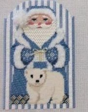 Ridgewood Needlepoint in Wyckoff has a lovely club featuring classic Santa Clauses from Susan Roberts. In this club students will learn 6 different techniques for beards, fun ideas for different fu…