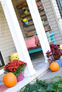 Fall Front Porch by @Jenna_Burger, sasinteriors.net