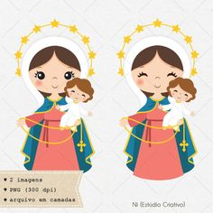 Our Lady of the Holy Rosary clipart Nossa senhora do Rosario Cute Clipart, Vector Clipart, Doodles Bonitos, Bible Activities For Kids, Catholic Crafts, Holy Rosary, Blessed Mother Mary, Clip Art, Cute Doodles