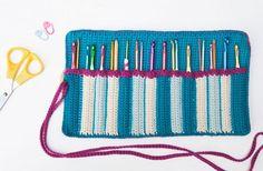 Crochet Organizer, Crochet Storage, Crochet Hook Case, Crochet Hooks, Crochet Symbols, Crochet Patterns, Filet Crochet, Knit Crochet, Knitting Accessories