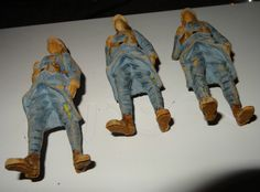Trois figurines soldat poilu WW1 composition elastolin SFBJ DURSO 14-18 | eBay