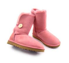 Seashell Rose Bailey Button UGG Boots.