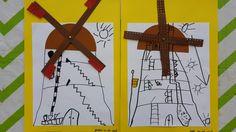Teken een dwarsdoorsnede van de molen (na een bezoek aan de molen)