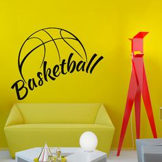 Wall Vinyl Sticker Decal Basketball Ball Sport by VinylDecals2U
