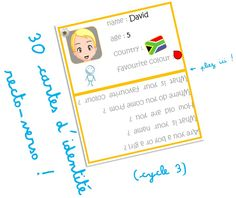 Jeux autour des cartes d'identité pour se présenter en Anglais - Elau …