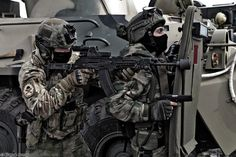 """Soldiers of the 1st Special Purpose Unit of the Internal Forces """"Vityaz"""" ."""