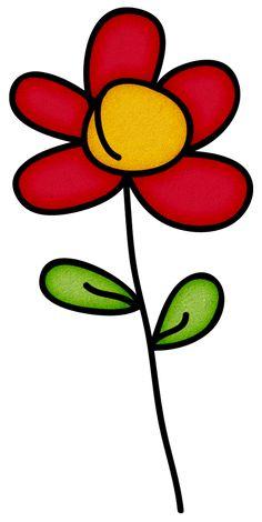 Doodle Flower Flower Images, Flower Pictures, Png Pack, Painted Rocks Craft, Cartoon Flowers, Flower Doodles, Doodle Flowers, Bear Art, Window Art