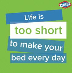 Life is too short to make your bed every day #StainPins #ad