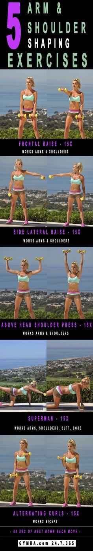 Arms & Shoulders Workout [ Waterbabiesbikini.com ] #fitness #bikini #elegance #ShoulderWorkout