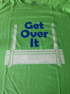 Get Over It - Flyball themed Tshirt with Flyball jump