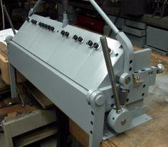 Finger Brake - Homemade finger brake constructed from steel.