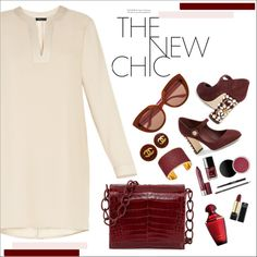 How To Wear Nude & oxblood Outfit Idea 2017 - Fashion Trends Ready To Wear For Plus Size, Curvy Women Over 20, 30, 40, 50