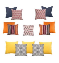 For sprucing up the house before guests arrive, move pillows around from room to room and give your sofa a new personality. Article Design, All Holidays, Personality, Sofa, Throw Pillows, Bed, House, Inspiration, Biblical Inspiration