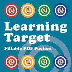 Learning Target Fillable PDF Posters Do you need to post your learning targets? Use these fillable PDF posters for any subject or grade level! Easel Activities, Educational Activities, Teaching Tools, Teaching Resources, Teaching Strategies, Teaching Ideas, Classroom Organization, Classroom Management, School Classroom