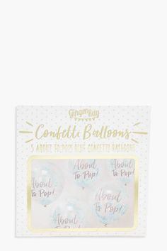 boohoo Ginger Ray About To Pop Blue Confetti Balloons O Pop, Pastel Nail Polish, Body Glitter, Confetti Balloons, How To Find Out, How To Make, Floral Crown, Holidays And Events, Boohoo