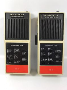 WORKS 1976 Archer senior space patrol walkie talkie pair morse code Radio Shack  | eBay