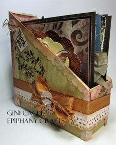 Card Organizer from a Cracker Box