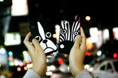 phone cases with animal (dog and zebra) shape