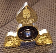 Fidget Spinner 'MOLON LABE EDC' One of a Kind by ShadywoodSigns