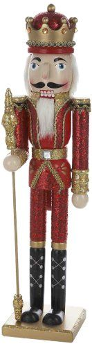 Kurt Adler 24-Inch Wooden Red and Gold Nutcracker - List price: $62.50 Price: $39.99 Saving: $22.51 (36%) + Free Shipping