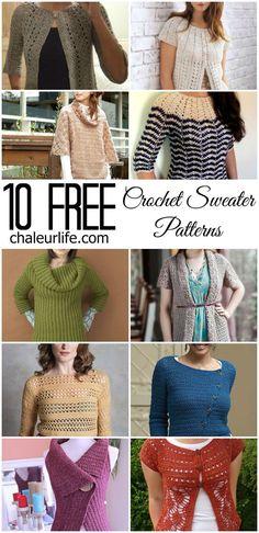 39daec59fed 10 Free Crochet Sweater Patterns Crochet Shirt