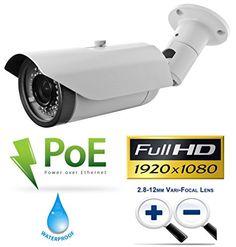 $$  USG Business Grade Sixteen (16) Camera 1080P HD IP CCTV Kit: 1x 24 Channel NVR + 16x 1080P 28-12mm PoE IP Bullet Cameras + 1x 3TB HDD *** High Definition CCTV Video Surveillance *** Upgraded Premium Internal Components (Chip, Sensor, Lens!)
