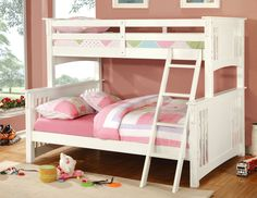Twin/Full Bunk Bed In Oak Spring Creek Collection