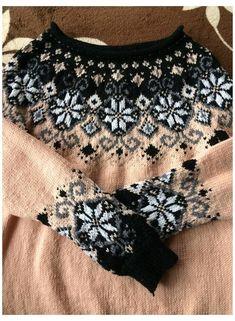 Fair Isle Knitting Patterns, Fair Isle Pattern, Knitting Charts, Knitting Stitches, Hand Knitting, Pullover Design, Sweater Design, Fair Isle Pullover, Icelandic Sweaters