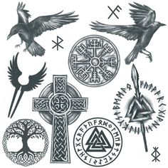 Viking Tattoo Set 1 - You are in the right place about diy Here we offer you the most beautiful pictures about the diy - Viking Tattoos For Men, Viking Warrior Tattoos, Viking Tattoo Sleeve, Viking Tattoo Symbol, Cross Tattoo For Men, Norse Tattoo, Inca Tattoo, Maori Tattoos, Viking Tattoo Design