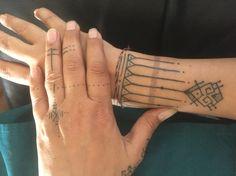 Hand/wrist tattoo by David Kalalo - Kulit Keras #handtattoo #wristtattoo #dayakinspired #mentawai-inspired #ceram #lineworktattoo