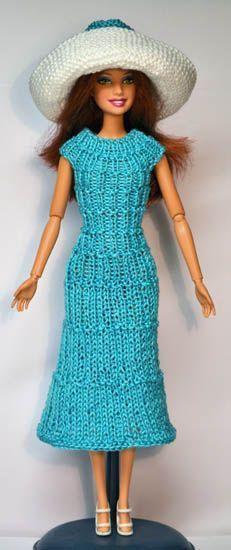 Barbie Knitting Patterns, Knitting Dolls Clothes, Barbie Clothes Patterns, Crochet Barbie Clothes, Doll Clothes Barbie, American Doll Clothes, Barbie Dress, Knitted Dolls, Clothing Patterns