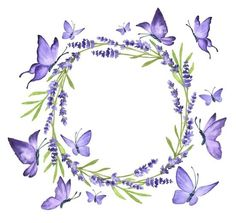 Wreath Watercolor, Watercolor Flowers, Pinturas Disney, Paper Quilling Designs, Borders And Frames, Handfasting, Butterfly Wallpaper, Happy Birthday Wishes, Flower Frame