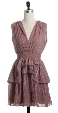 Shimmery Mauve Dress