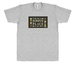 John's Place T-Shirt - a Chicago #Smallbiz gift for all the John's out there. Local restaurant shirt.