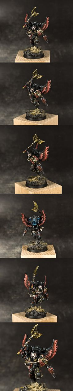 The Internet's largest gallery of painted miniatures, with a large repository of how-to articles on miniature painting Warhammer 40k Blood Angels, Warhammer Models, Warhammer 40000, Paint Schemes, Space Marine, Dungeons And Dragons, Dark Angels, War Hammer, Fantasy