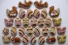 Czech Recipes, Russian Recipes, Easter Cookies, Christmas Cookies, Edible Art, No Bake Cookies, Royal Icing, Mini Cupcakes, Cookie Decorating