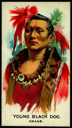 Cigarette Card - Indian Chief, Young Black Dog, via Flickr.
