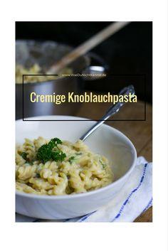 Cremig, einfach und lecker. Für Knoblauchfans eine wahre Freude. Creamy Garlic Pasta!