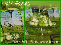 Golf themed party favors.