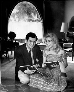 Stanley Kubrick and Sue Lyon on the set of LOLITA (Stanley Kubrick, USA, 1962) #Kubrick