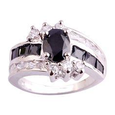 Empsoul Women's 925 Sterling Silver Natural Gorgeous Filled Black Spinel & White Topaz Wedding Ring https://www.amazon.com/dp/B01M4KPE1T