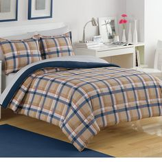 Par Plaid Comforter Set