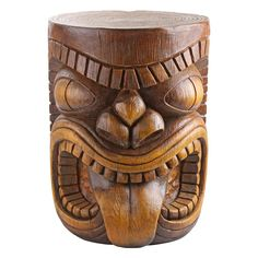 Discover the best tiki bar ideas and tiki bar decor for your bar at home. Whether you need a tiki bar for a party or your building a new bar, we have it. Tiki Statues, Outdoor Statues, Tiki Man, Tiki Tiki, Outdoor Side Table, Outdoor Dining, Outdoor Decor, Patio Table, Outdoor Life