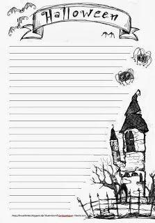 Halloween Schreibblatt